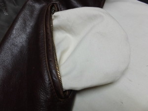 フライトジャケット革ジャンポケット袋修理東京