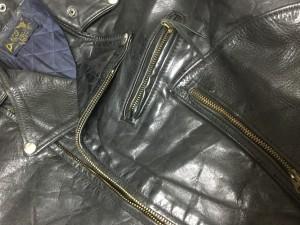 ビンテージライダースジャケットファスナー リペア ロンゴロンゴ