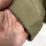 コットンチノパン 裾擦り切れ補修お直し