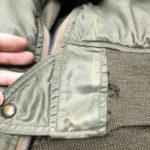 L2 ミリタリージャケットリブ穴補修